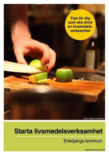 Broschyren Starta livsmedelsverksamhet - Enköping