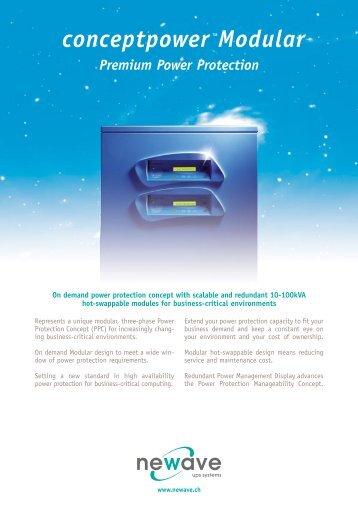 conceptpower™Modular Premium Power ... - UPS Service Plus