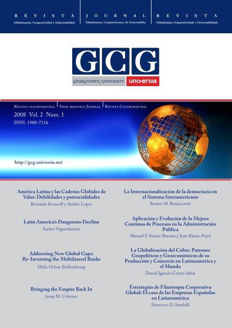 2008 Vol. 2 Num. 1 - GCG: Revista de Globalización, Competitividad ...