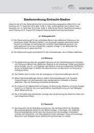 Mögliche Ergänzungen Stadionordnung - Eintracht-Stadion