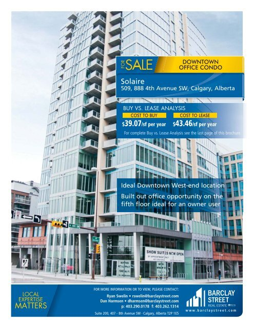 Solaire - 509, 888 4th Ave SW pdf - Barclay Street Real Estate