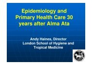 Epidemiology and Primary Health Care 30 years after ... - Epi2008