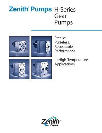 Zenith® Pumps H-Series Gear Pumps - Zenith Pumps