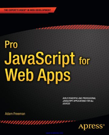 Pro JavaScript for Web Apps pdf - EBook Free Download
