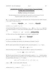 (MATH5476M) MATH3475: (Advanced) Modern Numerical Methods ...