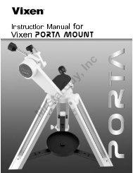 PORTA Mount Manual - Vixen Optics
