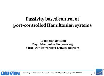 Passivity based control of port-controlled Hamiltonian systems