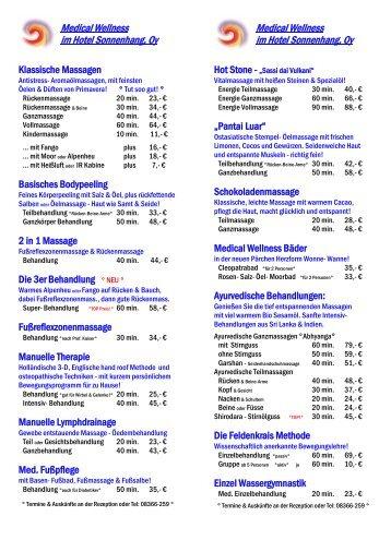Medical Wellness Preise 2012 als Pdf - im Wellness und Sporthotel ...