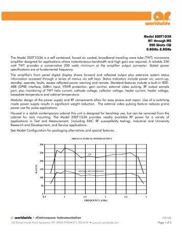 ar worldwide • rf/microwave instrumentation Model 200T1G3A M1 ...