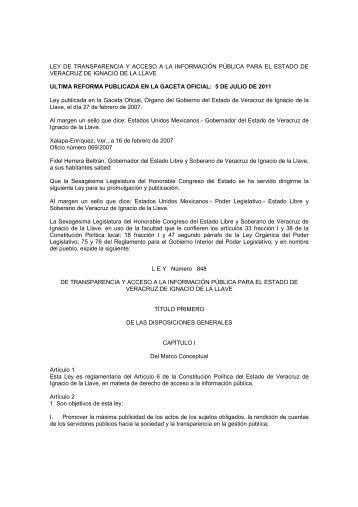 ley de transparencia y acceso a la información pública para el ... - Ifai