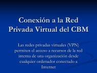 Conexión a la Red Privada Virtual del CBM