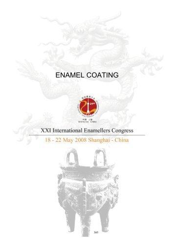 ENAMEL COATING - IEI, International Enamellers Institute
