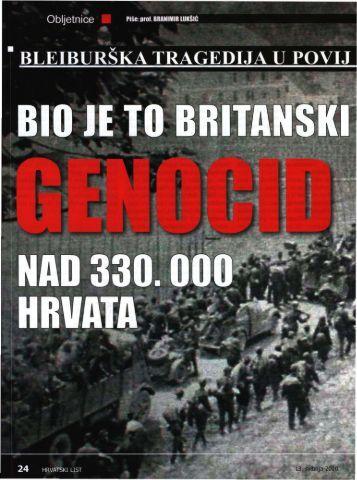Bio je to partizanski i britanski genocid nad 330.000 ... - Pobijeni.info