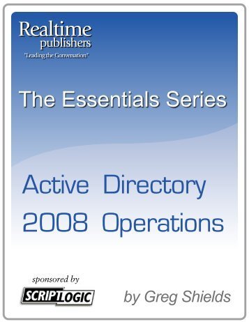 The Essential Series to Active Directory 2008 ... - Eddie Jackson