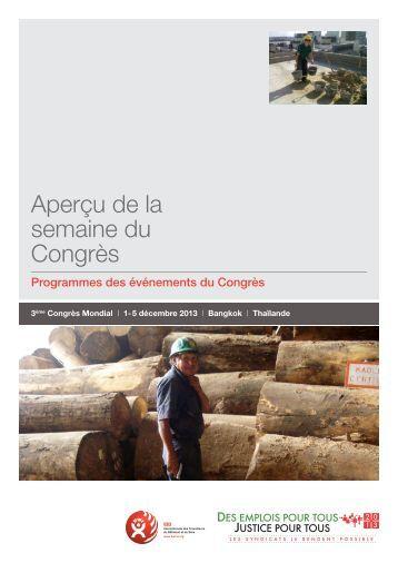 Aperçu de la semaine du Congrès - BWI 2013 World Congress