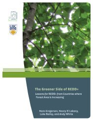 The Greener Side of REDD+ - Rights and Resources Initiative