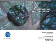 Low Carbon Fuels Who Pays and How? Low Carbon Fuels Who ...