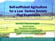 Self-sufficient Agriculture for a Low Carbon Society :Thai Experience