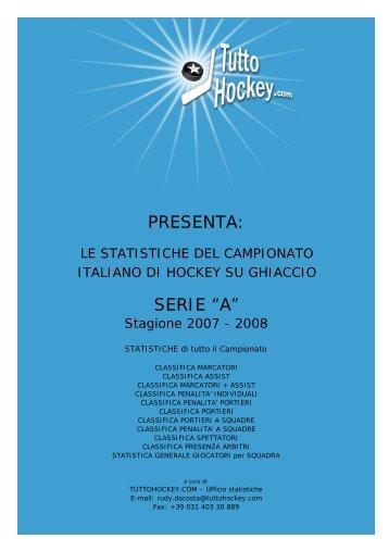 Stat A1 07_08 Tutto il campionato - Tuttohockey