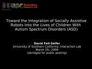 Toward the Integration of Socially Assistive Robots Into the Lives of ...