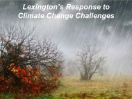 Lexington's Response to Climate Change Challenges - Town of ...