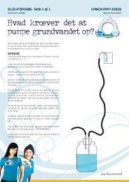 Side 1 af 1 Hvad kræver det at pumpe grundvandet op? - Aarhus Vand