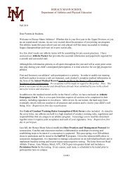 Dear Parents and Prospective Athletes2011 - Horace Mann School