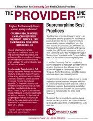 Provider Newsletter January 2012 - Community Care Behavioral ...