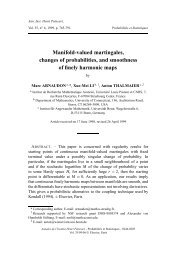 Manifold-valued martingales, changes of probabilities, and ...