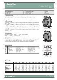 Produktbladför Smutsfilter - Armatec