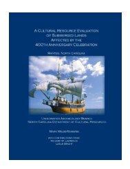 Manteo Harbor Report - North Carolina Archaeology - North ...