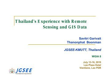 Thailand's Experience with Remote Sensing and GIS Data [PDF: 1.4 ...