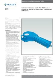 Actionneur hydraulique double effet OLGA, quart de tour pour ...