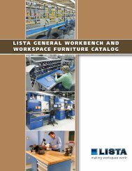 lista general workbench and workspace furniture catalog