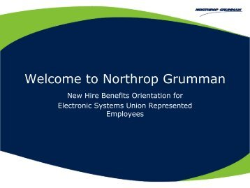 Welcome to Northrop Grumman - Benefits Online