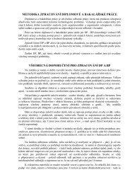 metodika zpracování diplomové a bakalářské práce - VUT UST