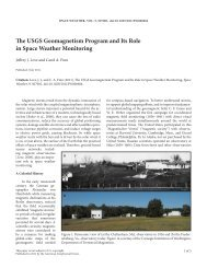 The USGS Geomagnetism Program and Its Role in Space Weather ...