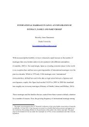 INTERNATIONAL MARRIAGE IN JAPAN - Asian Studies Association ...
