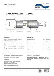 TURBO NOZZLE TD 3000 - Woma