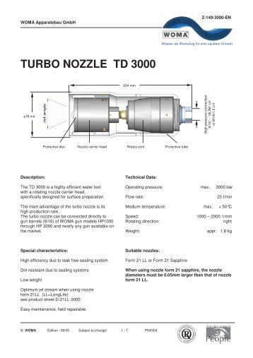 TURBO NOZZLE TD 3000 - Woma