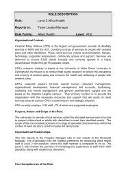 Level 2 Allied Health Reports to - Cerebral Palsy Alliance