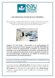 Dossier contrat global pressing - Agence de l'Eau Seine Normandie