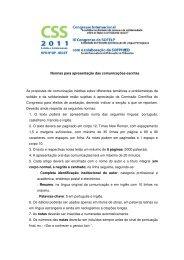 Normas para a apresentação de comunicações escritas - ISCET