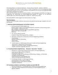 Das Curriculum - Forschungsgruppe PETRA