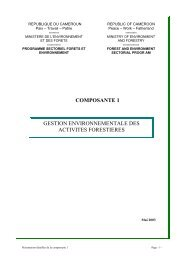 Composante 1 - Impact monitoring of Forest Management in ...