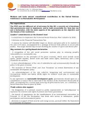Workers and trade unions' consolidated contribution to the ... - Rio+20