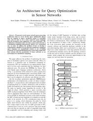 An Architecture for Query Optimization in Sensor Networks - SNEE