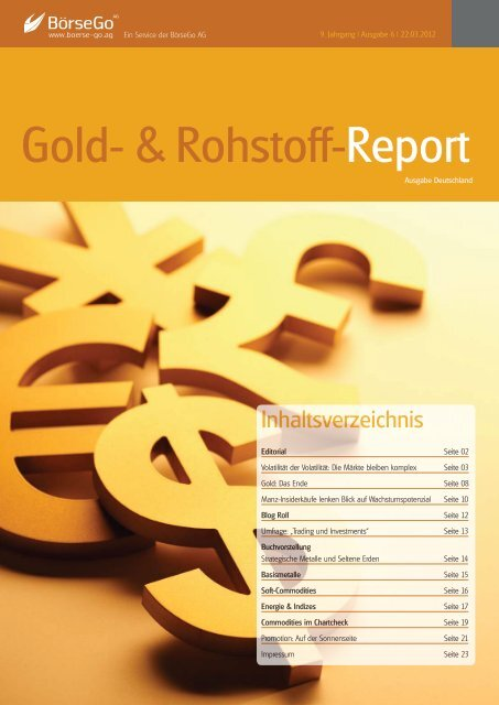 Gold Rohstoff Report Forex Cfd Report -