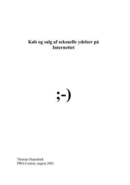 Køb og salg af seksuelle ydelser på internettet - Reden København