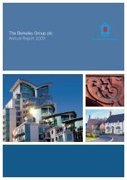Annual Report 2003 in PDF - Berkeley Group